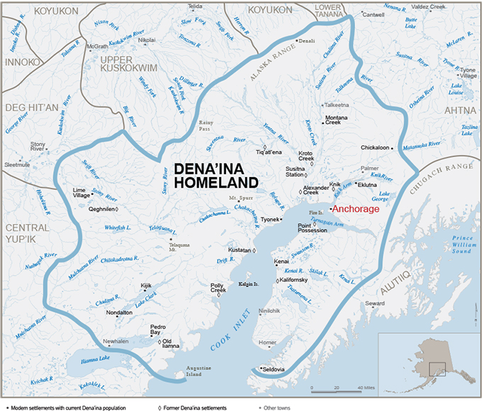Dena'ina Homeland with Communities